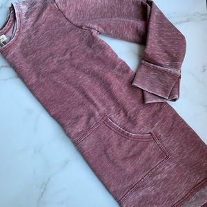 JANE AND DELANCEY Distressed maroon sweatshirt SM